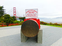 San Francisco Kalifornien, Amerikas förenta stater - Maj 04, 2016: Den guld- portbron royaltyfri foto
