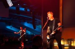 Metallica på Moscone centrerar 2011 Arkivfoton