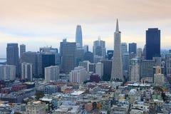 San Francisco Kalifornien horisont Arkivfoton