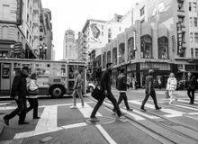 San Francisco Kalifornien - JUNI 16: Livsstil i San Francisco Royaltyfri Fotografi