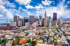 San Francisco Kalifornien, USA horisont Arkivbild