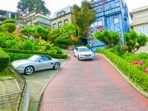 San Francisco Kalifornien, USA - Maj 04, 2016: Sikt av Lombardgatan Royaltyfri Foto