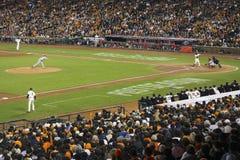 San Francisco Kalifornien, USA, Oktober 16, 2014, AT&T parkerar, baseballstadion, St Louis Cardinals, medborgaren Leag för SF-jät Royaltyfria Foton
