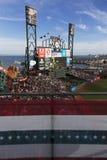 San Francisco Kalifornien, USA, Oktober 16, 2014, AT&T parkerar, baseballstadion, St Louis Cardinals, medborgaren Leag för SF-jät Arkivbild