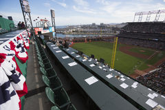 San Francisco Kalifornien, USA, Oktober 16, 2014, AT&T parkerar, baseballstadion, St Louis Cardinals, medborgaren Leag för SF-jät Arkivfoton
