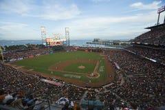 San Francisco Kalifornien, USA, Oktober 16, 2014, AT&T parkerar, baseballstadion, St Louis Cardinals, medborgaren Leag för SF-jät Arkivfoto