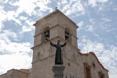 San Francisco kyrka i Arequipa, Peru Royaltyfri Bild