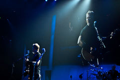 Metallica au centre 2011 de Moscone Photo stock