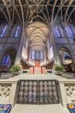 San Francisco, la Californie - 1er décembre 2018 : Intérieur de Grace Cathedral Nave images stock