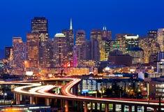 San Francisco la nuit Photos stock