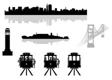 San Francisco Landmarks Stock Images