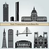 San Francisco landmarks and monuments Royalty Free Stock Photos