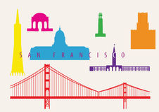 San Francisco Landmarks Royalty Free Stock Image