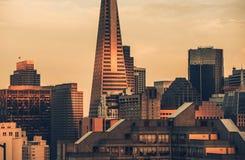 San Francisco The Last Shine. The Last Shine in San Francisco, California, United States. San Francisco Skyline Sunset Scenery Royalty Free Stock Photos