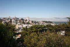 San Francisco - Lombard Straat Stock Foto