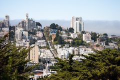 San Francisco - Lombard Street Royalty Free Stock Photos