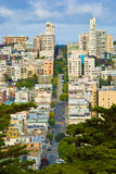 San Francisco Lombard Street Stock Images
