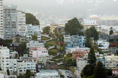 San Francisco Lombardo Street Royalty Free Stock Photography