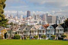 SAN FRANCISCO målade damer fotografering för bildbyråer