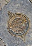 San Francisco Manhole Cover sur le pilier 39, la Californie, Etats-Unis images libres de droits