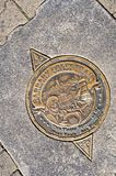 San Francisco Manhole pokrywa na molu 39, Kalifornia, usa obraz stock