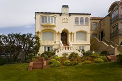 San Francisco Mansion. Shot of a San Francisco Mansion located in the Pacific Heights District Stock Photography