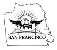 San Francisco map Stock Photo