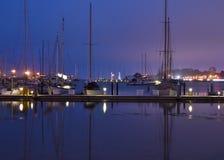 San Francisco marina på natten Arkivbilder