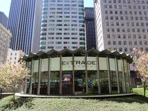 Glass E*Trade Financial Building stock photos