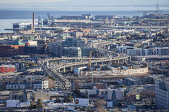 San Francisco Mission Bay District Aerial View Royalty Free Stock Images