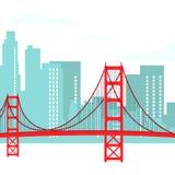 San Francisco Modern Cityscape Vector Illustration libre illustration