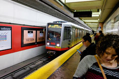 San Francisco Muni Subway Transportation Stock Photography
