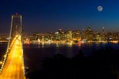 San Francisco nachts Lizenzfreies Stockbild