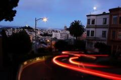 San Francisco nachts lizenzfreie stockfotos