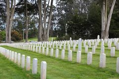 San Francisco National Cemetery. SAN FRANCISCO, USA - APRIL 9, 2014: San Francisco National Cemetery in California. The memorial area is administered by the US Stock Images