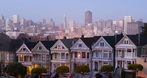 San Francisco Neighborhood Painted Ladies Homes Royalty Free Stock Photos