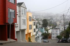 San Francisco neighborhood Royalty Free Stock Images