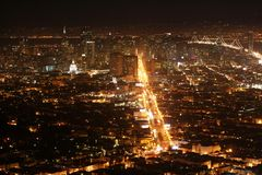 San Francisco at night. As seen from the Twin Picks stock photography