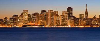 San Francisco at night. San Francisco skyline at night Stock Image