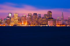 San Francisco at night. San Francisco skyline at night Royalty Free Stock Photos