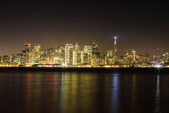 San francisco at night. During christmas time Royalty Free Stock Images