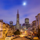 San Francisco at night. Royalty Free Stock Images