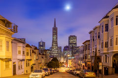 San Francisco at night. Royalty Free Stock Photography