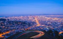 San Francisco night cityscape Stock Image