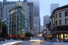 San Francisco at night. Downtown San Francisco at night Stock Photo
