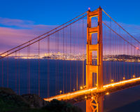 San Francisco at Night Stock Image