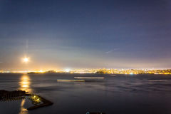 San Francisco Night Panorama Stock Photo