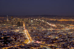 San Francisco by night Stock Photography