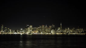 San Francisco Night Skyline Royalty Free Stock Images