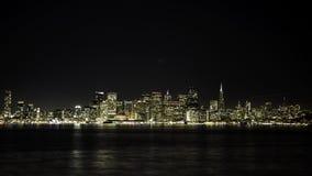 San Francisco Night Skyline. Seen from Treasure Island Royalty Free Stock Images